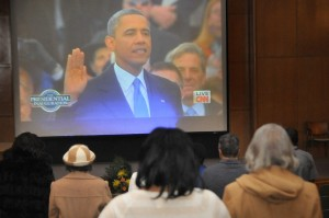 Henry Ford Hospital celebrated MLK Day with a viewing of the Presidential Inauguration in Beuki Auditorium.
