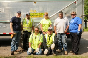 The D&B Landscaping crew with Marco and Ronnie.