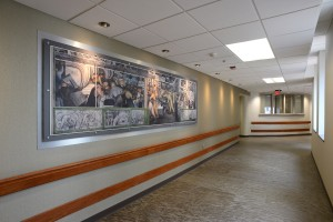 Detroit-Inspired Artwork in the New Surgical Lounge Area