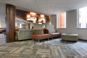 Another view inside the renovated surgical lounge.