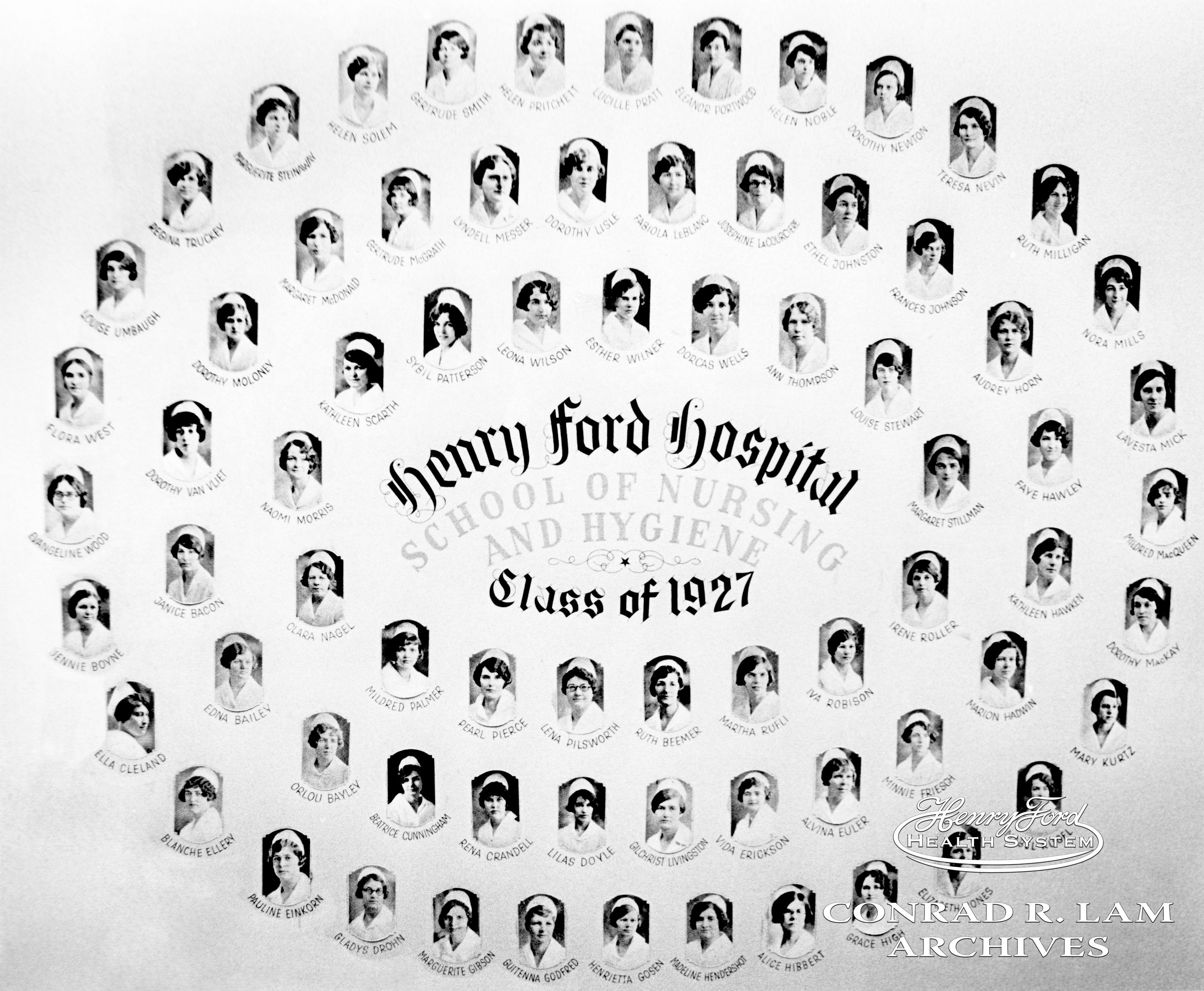 patient care doc in the d henry ford hospital school of nursing class of 1927